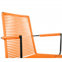 orange Dining armrest wire chair