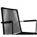 chaise fil avec accoudoir scoubidou Noir
