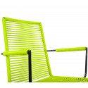 Green Dining armrest rope chair