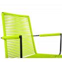 chaise fil Design avec accoudoir Vert Anis