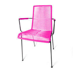 Chaise Design avec accoudoir Fuschia