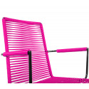 Magenta Dining armrest wire chair