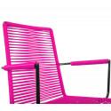 chaise fil Design avec accoudoir Fuschia