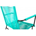 Turquoise wire chair armrest