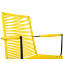 Yellow plastic thread armrest wire chair
