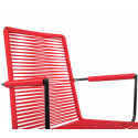 Red Dining armrest rope chair