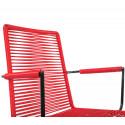 chaise fil Design avec accoudoir Rouge