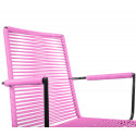 Pink Dining armrest rope chair