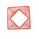 zoom Red quadrat gartentisch