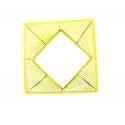 zoom Gelb design quadrat gartentisch