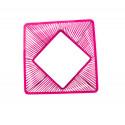 zoom Magenta quadrat gartentisch mit Top-Glas