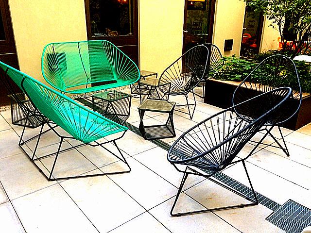 Hotel A Loft Munich terrasse meubles boqa jonc plastique