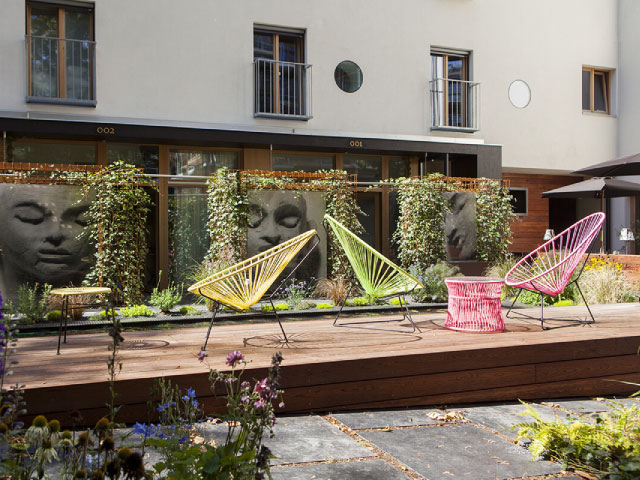 Hotel Nala : terrasse lounge mobilier Boqa